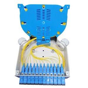 DIN fiber optic termination box SC SX